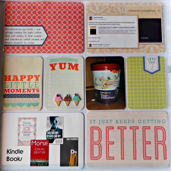 Cards from Becky Higgins Project Life Coral kit,  ice cream embellishments by Jolee's.